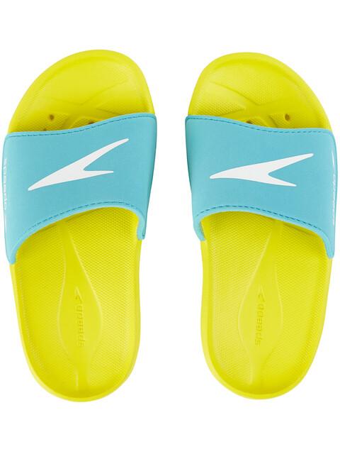 speedo Atami Core Slides Kids, empire yellow/bali blue